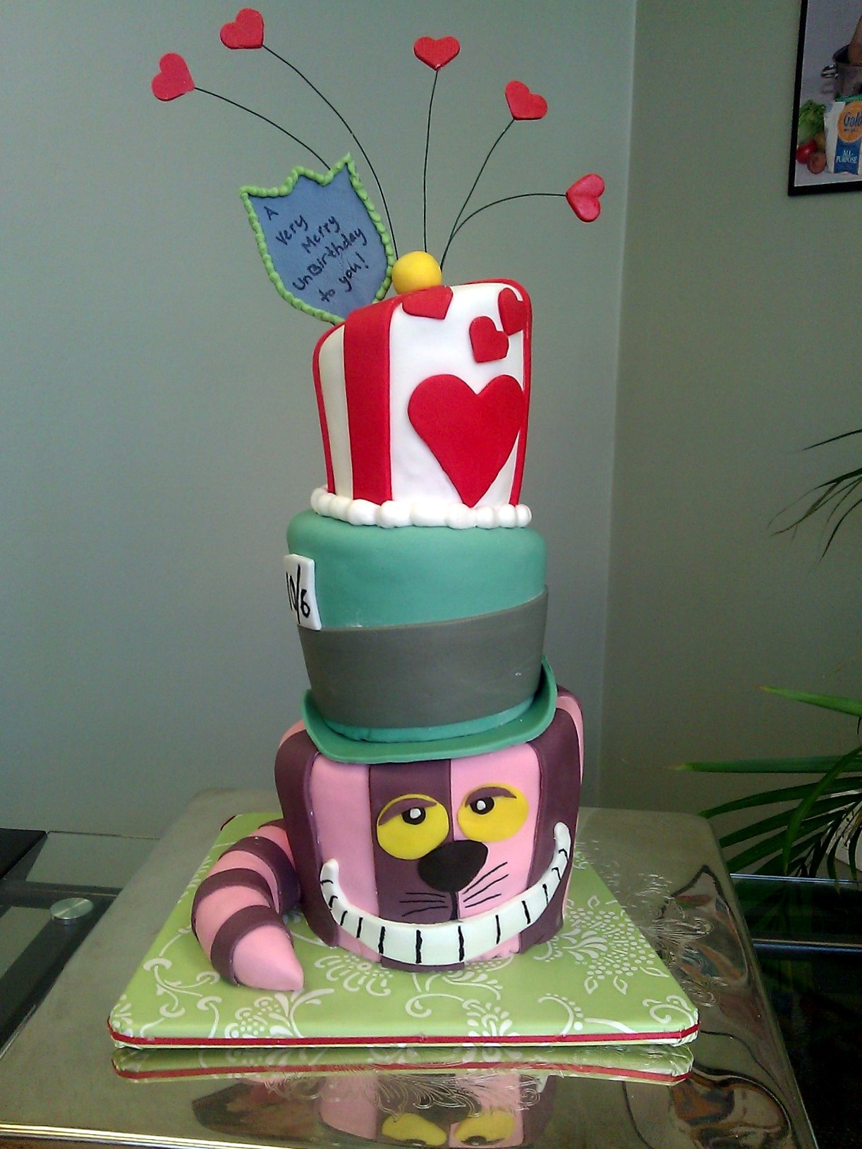 Alice in Wonderland Baby Shower Cake