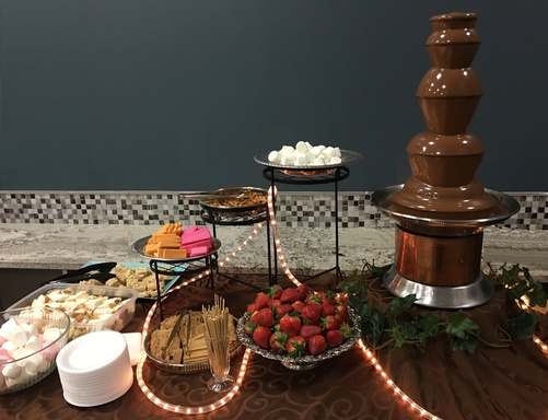 Add a Fountain $275 for an additional fountain which includes chocolate and extra dippers. & Chocolate Fountain rental